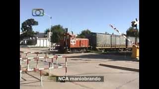Locotractor de NCA maniobrando en General Deheza