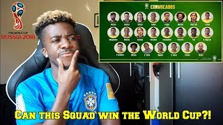 TITE ANNOUNCES HIS 23 MAN BRAZIL SQUAD FOR THE WORLD CUP!! 🇧🇷 | Reaction