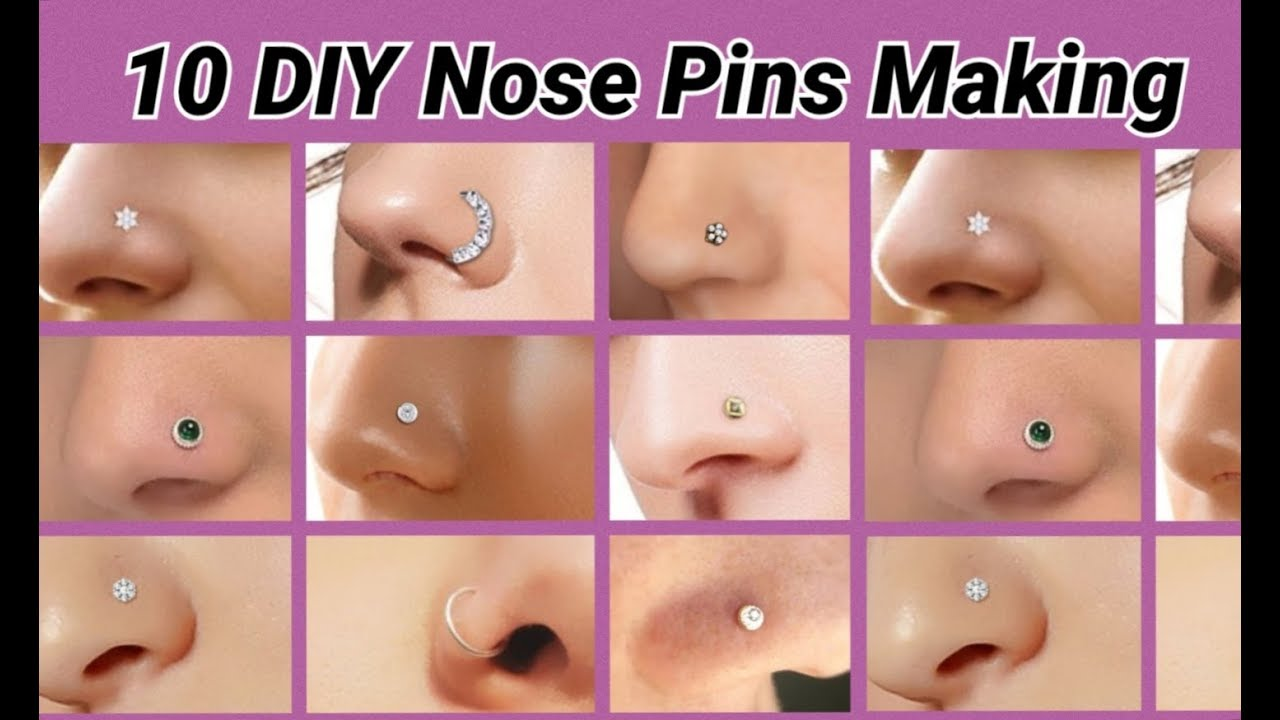 10 Diy Nose Pins And Nose Rings Making At Home Youtube