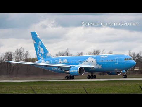 Air Drake (New Livery) Boeing 767-200ER Taxiing + Departing RWY 12 | Hamilton Int'l