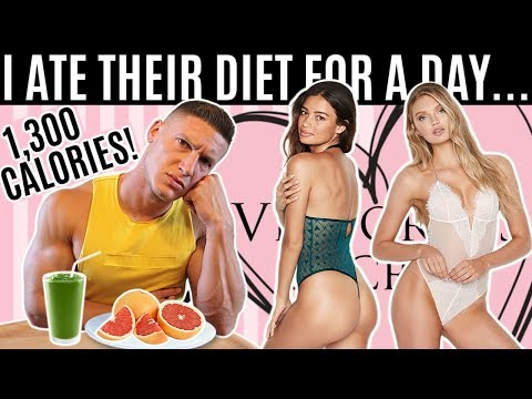 Bodybuilder tries the Victoria's Secret model DIET & WORKOUT for a day…