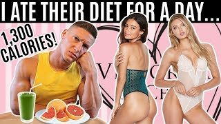Bodybuilder tries the Victoria's Secret model DIET & WORKOUT for a day...