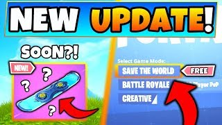 Fortnite Update: DRIFTBOARD SOON + STW FREE for Certain Users?! (7 New Things in Battle Royale!)