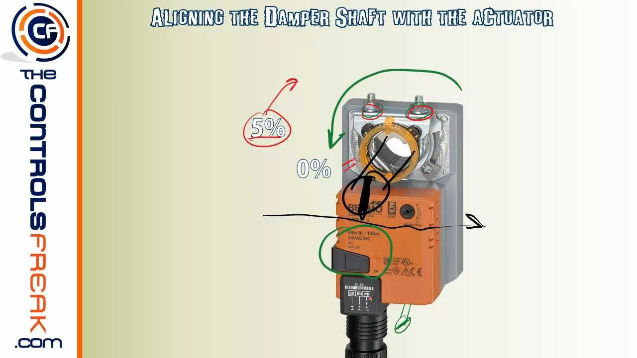 maxresdefault quick tip to make sure your belimo actuator seals your damper belimo thermostat wiring diagram at n-0.co