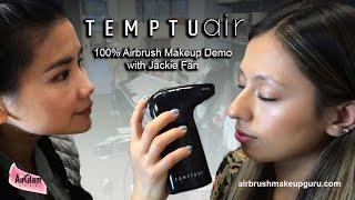 TEMPTU AIR Tutorial with Jackie Fan: full airbrush makeup look / Trucco Aerografo portatile