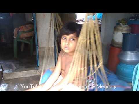After flood captured video - situation in rural village
