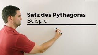 """Satz des Pythagoras, Beispiel, """"Abgeknickter Baum"""", Mathehilfe online"""