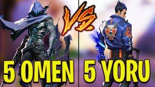 Valorant: 5 Yoru VŠ 5 Omen Players - Who Wins?