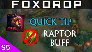 Quick Tip - Not Wasting Raptor Smite Buff [League of Legends]