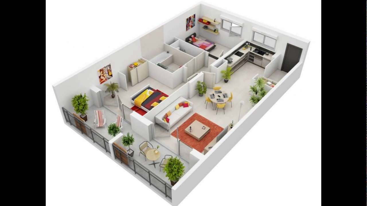 Desain Rumah Minimalis Modern 1 Lantai 3 Kamar 3D Keren ...