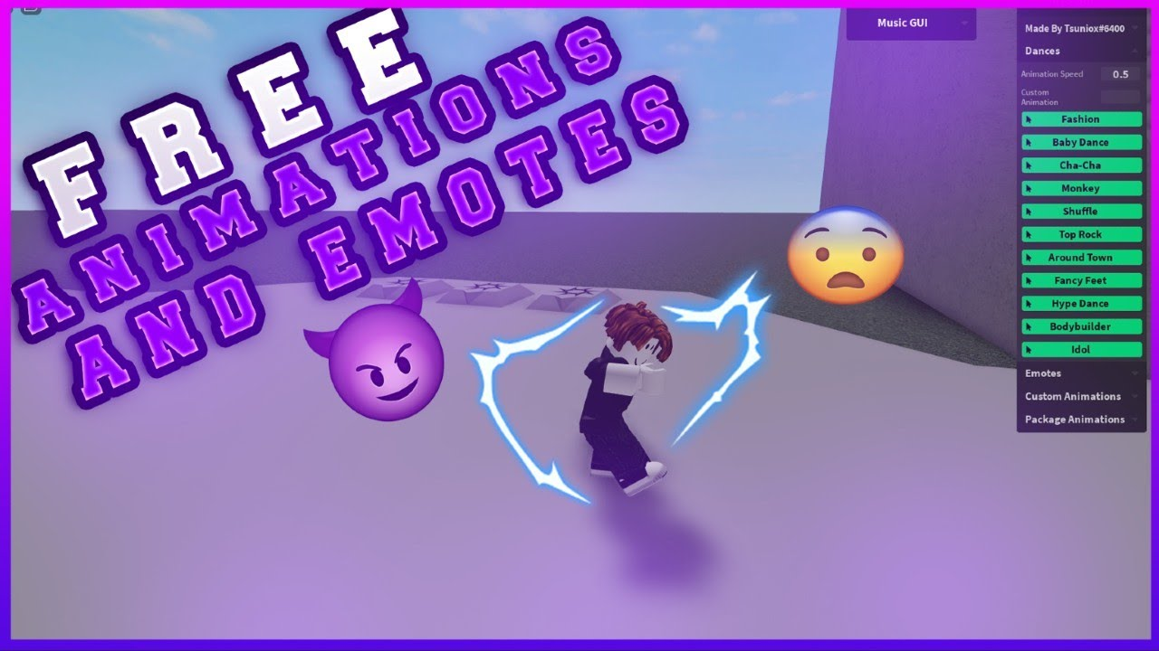 Roblox Free Animations And Dances And Emote Youtube