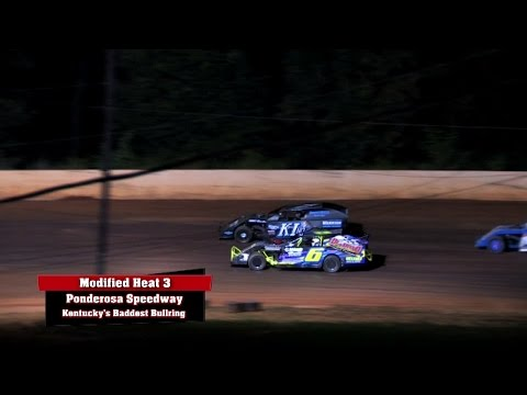 Modifieds 3 Heat Races at Ponderosa Speedway Aug  22 , 2014