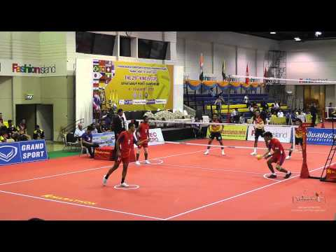 Kings Cup 2014 Sepak Takraw Indonesia vs. Malaysia 1st Regu - Team event