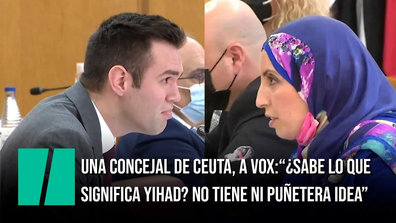 """Una concejal de Ceuta, al portavoz de Vox: """"¿Sabe lo que significa yihad? No tiene ni puñetera idea"""""""