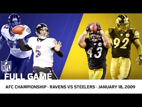 2008 AFC Championship: Polamalu Delivers for the Steelers | Ravens vs. Steelers (FULL GAME) | NFL