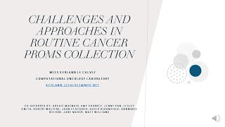Challenges and approaches in routine cancer PROMs collection