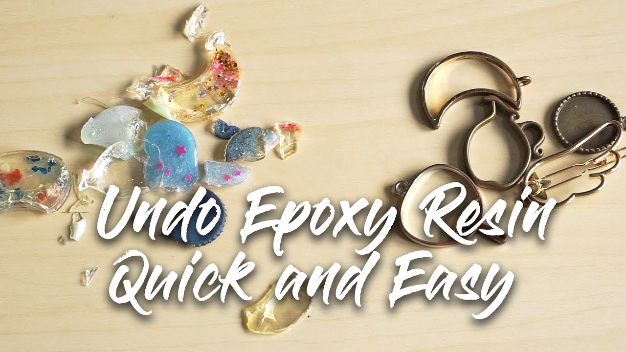 Tutorial: How to undo resin?? Easy way to undo epoxy resin in 5 minutes