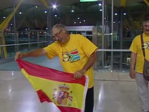 FIFA World Cup 2010 - Spanish fans elated after reaching final and beating Germany