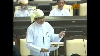 Proposal about Rakhine State by MP U Hla Swe