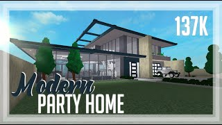 ROBLOX | Welcome To Bloxburg: 137k Modern Party Home | Speedbuild + Tour + Screenies