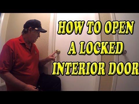 how-to-open-a-locked-interior-door