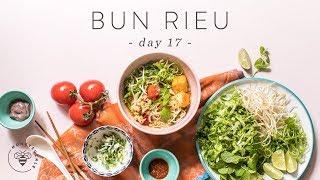 Easy & Healthy BUN RIEU (Vietnamese Crab Noodle Soup) 🐝 DAY 17 Vietnamese Captions | HONEYSUCKLE