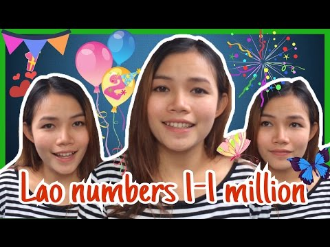 Learn Lao numbers | How to count in Lao language.