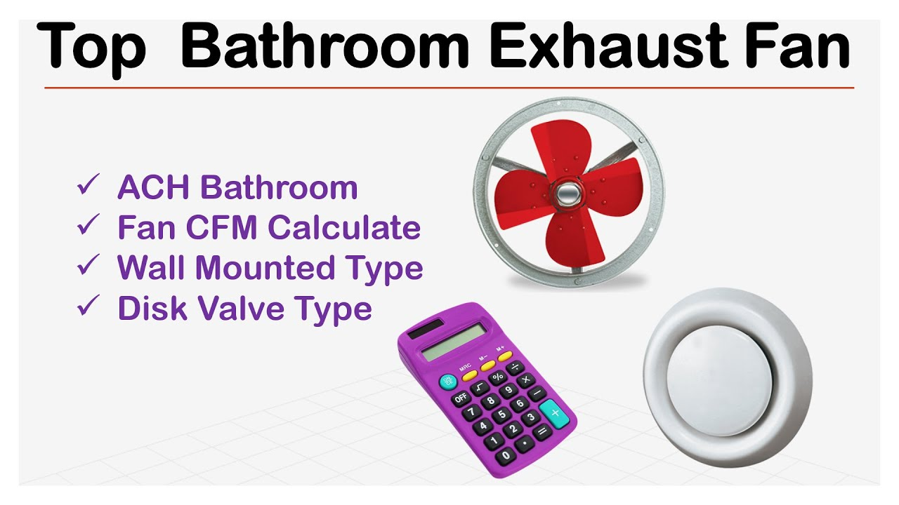 Bathroom Vent Fan Cfm Calculator - Bathroom Design