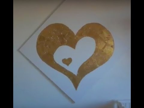 Gold Heart Foil Custom Art Piece for Modern Nursery