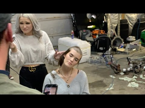 we shaved a model's head for $4000 in the garage from YouTube · Duration:  1 minutes 52 seconds
