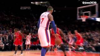 carmelo anthony 43 points and game winning 3 pointers in ot knicks 100 bulls 99 april 8 2012