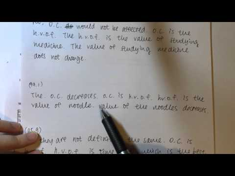 2015 DSE 7科5**狀元|DSE Econ opportunity cost 教學|Typical Question Types|可以email索取自製筆記sample