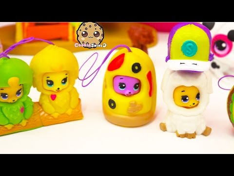 4 Party Animals Bears in Costumes + Shopkins Season 3 Blind Bag Unboxing Video Cookieswirlc