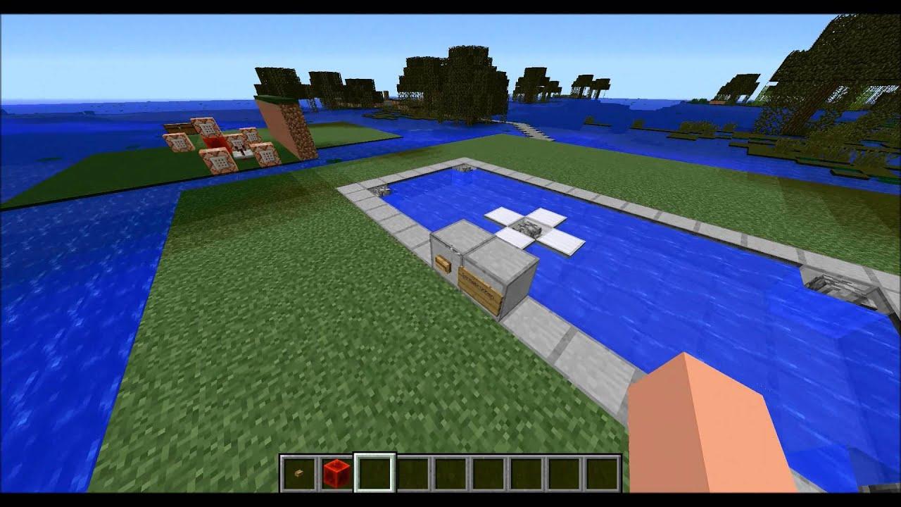 Minecraft CommandTrick Springbrunnen YouTube - Minecraft nutzliche spielerkopfe