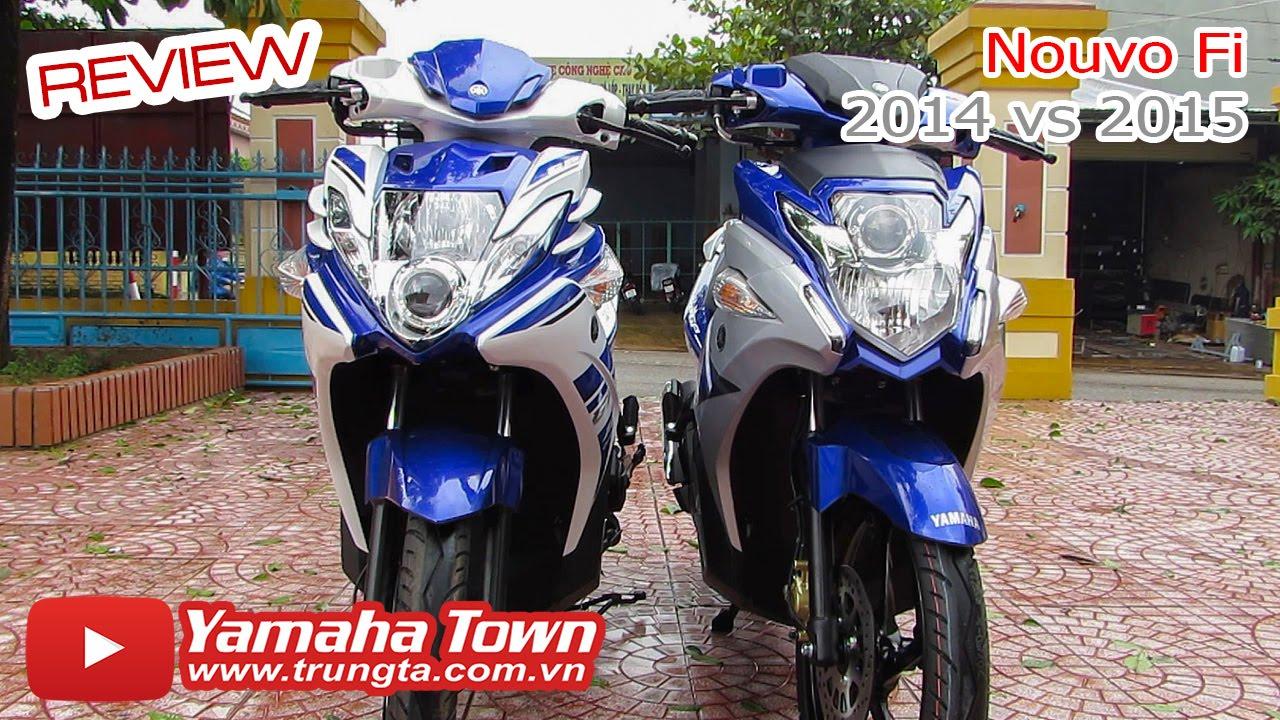 Yamaha Nouvo Fi GP 2015 đọ dáng Nouvo Fi GP 2014 - So sánh chi tiết! ✔