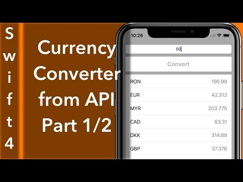 Currency Converter Part 1/2 : JSON and UI Setup (Swift 4 + Xcode 9.0)