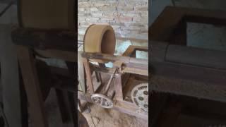 Pembuatan tebok lovebird bahan kayu jati.