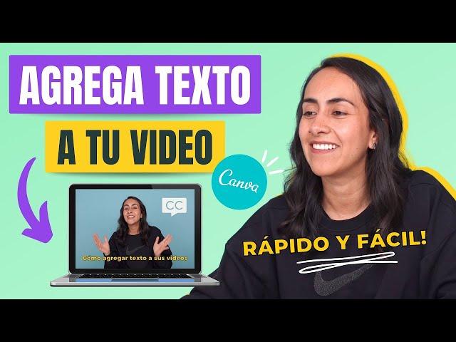 Cómo hacer SUBTÍTULOS GRATIS y añadirlos a un VIDEO en Canva