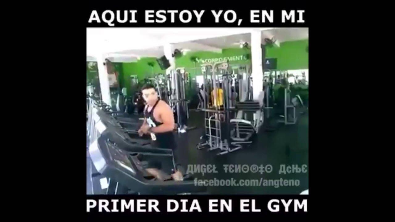 Aqui estoy yo en mi primer dia en el gym v youtube for El gimnasio