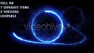 Energy Light Streaks With Particles | Motion Graphics - Videohive template