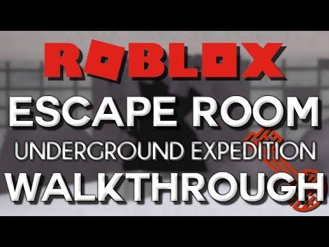 Escape Room Roblox Underground