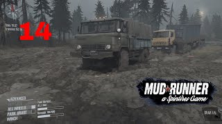 Let's Play Spintires: MudRunner PC Part 14 Single Player Map Crossing