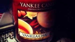 Yankee Candle Review Vanilla Chai