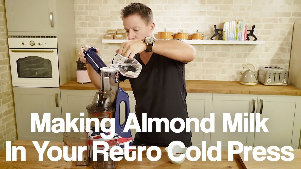 How to Make Almond Milk in a Retro Cold Press Juicer - YouTube