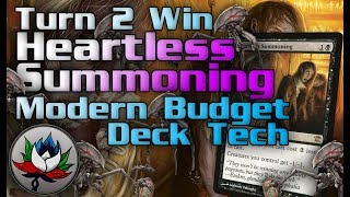 MTG – Funny Turn 2 Win Heartless Summoning Combo Modern Deck Tech for Magic: The Gathering!