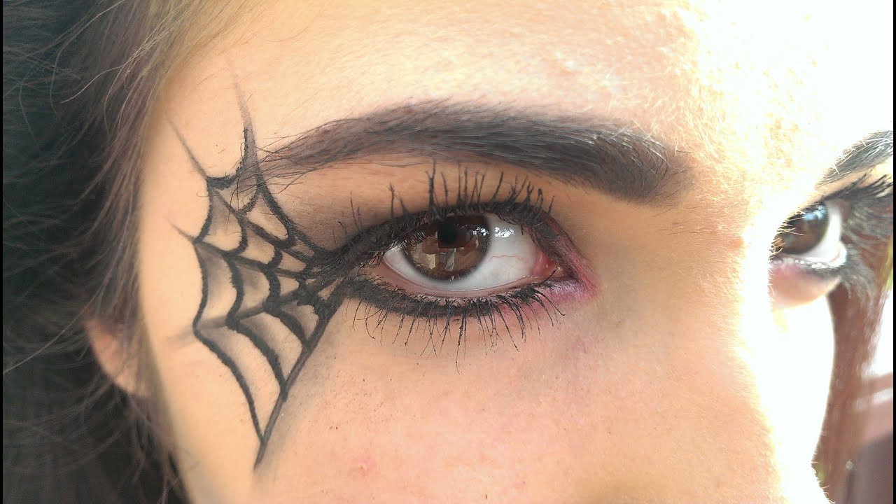 SPIDER WEB MAKEUP - YouTube