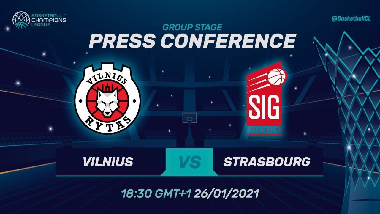 Rytas Vilnius v SIG Strasbourg - Press Conference