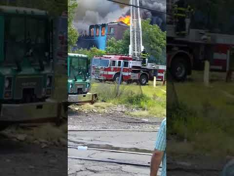 VIDEO: Massive Fire Consumes Paterson Mill