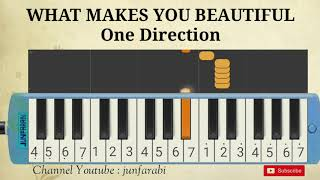 melodika what makes you beautiful one direction pianika