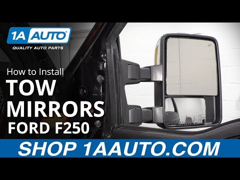 How to Install Tow Mirrors 08-16 Ford F250